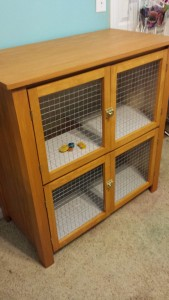 custom wood rabbit hutch