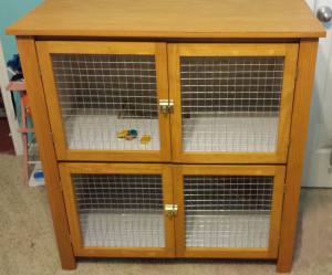 Past projects – custom rabbit hutch
