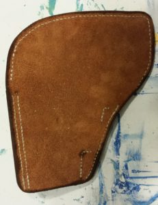 Suede holster back