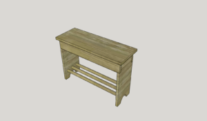 Entryway Bench – part 2