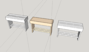 entryway bench variations