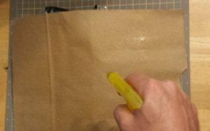 Wet paper with spray bottle